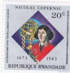 Stamps Rwanda -  Nicolas Copernic- astrónomo