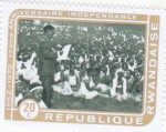 Stamps : Africa : Rwanda :  10 aniversario independencia