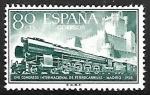 Stamps : Europe : Spain :  XVII congreso Internacional de Ferrocarriles -