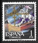 Stamps : Europe : Spain :   XXV aniversario del Alzamiento Nacional - Alcázar de Toledo