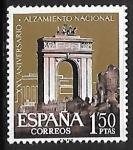 Stamps : Europe : Spain :   XXV aniversario del Alzamiento Nacional - Arco de triunfo