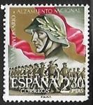 Stamps : Europe : Spain :   XXV aniversario del Alzamiento Nacional - Desfile de la Victoria