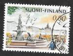 Sellos del Mundo : Europa : Finlandia : 750 - Plaza del Mercado, de Helsinki