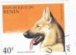 Sellos del Mundo : Africa : Benin : perro de raza- pastor alemán