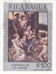 Sellos de America - Nicaragua -  Alegoría de la virtud