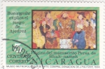 Stamps : America : Nicaragua :  Buzurgmihr explica el juego de Ajedrez