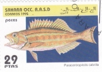 Stamps Morocco -  peces- paracentropristis cabrilla