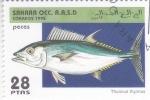 Sellos del Mundo : Africa : Marruecos : peces- thunnus thynnus