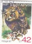 Sellos del Mundo : Europa : Bulgaria : ave- buho