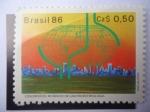 Stamps of the world : Brazil :  Congressos Mundiais de Gastroenterologia - Sao Paulo