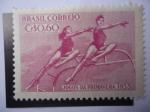 Sellos de America - Brasil -  Juegos Deportivos de Primavera 1955