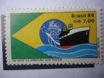 Sellos de America - Brasil -  180 Años de Apertura de los Puertos
