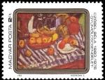 Sellos del Mundo : Europa : Hungría : Pinturas, frutas por Béla Czóbel