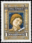 Stamps : Europe : Hungary :  Janus Pannonius (1434-1472) poet