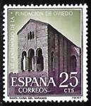 Sellos de Europa - España -  XII centenario de la fundación de Oviedo