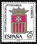 sello : Europa : España : LXXV aniversario de la coronación de Nta. Sra. de la Merced
