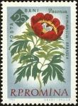 Sellos del Mundo : Europa : Rumania : Centenario de los jardines botánicos de Bucarest,Peonía (Paeonia peregrina Mill. Var. Romanica)