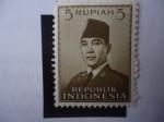 Stamps Asia - Indonesia -  Sukarno (1901-1970) Presidente de la República de Indonesia, 1945-1967