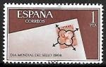 Stamps Europe - Spain -  Dia mundial del sello 1966