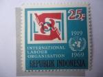 Sellos de Asia - Indonesia -  Organización Internacional del Trabajo 1919-1969