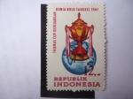 Stamps : Asia : Indonesia :  Thomas Cup Kedjuaraan Dunia Bulu Tangkis 1967 -