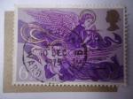 Stamps Europe - United Kingdom -  Navidad 1975 - Ángeles con Arpa y Laúd