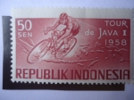 Stamps : Asia : Indonesia :  Tour of Java I - 1958
