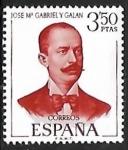 Stamps of the world : Spain :  Literatos Españoles - José Mª Gabriel y Galán
