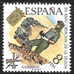 Stamps : Europe : Spain :  50 aniversario de la Legión