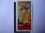Stamps : Europe : Poland :  Flores y Productos Agrícolas - Fecha de la Cosecha