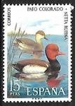 Stamps : Europe : Spain :  Fauna Hispánica - Pato Colorado