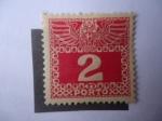 Stamps : Europe : Austria :  Escudo Imperial y Dígito - Postage Due