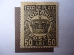 de Europa - Rumania -  Corona - Crown - Taxa de Plata