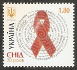 Stamps Europe - Ukraine -  1033 - Descubrimiento del virus del Sida