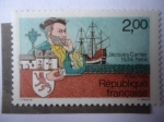 Stamps France -  Jacques Cartier (1491-15579 - Descubridor de Canadá