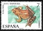 Sellos del Mundo : Europa : España : Fauna Hispánica - Rana Roja