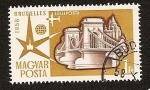 Stamps Hungary -  Expo de Bruselas 1958 - Puente de las Cadenas de Budapest
