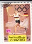 Sellos de Asia - Yemen -  Olimpiada de Munich-72