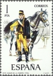 Sellos de Europa - España -  ESPAÑA 1974 2197 Sello Nuevo Uniformes Militares Husar de la Muerte 1705