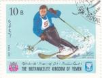 Stamps Asia - Yemen -  OLIMPIADA DE GRENOBLE-68