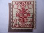 Stamps Oceania - Australia -  XVI Juegos Olímpicos de Melbourne 1956 - Escudo de Armas de la Ciudad de Melbourne.