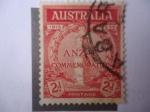 Stamps Oceania - Australia -  ANZAC- centenario, 1915-1935 - Siglas-Acrónimo
