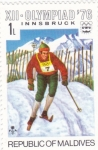 Stamps : Asia : Maldives :  OLIMPIADA INNSBRUCK-76