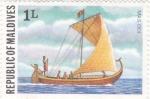 Sellos del Mundo : Asia : Maldivas : barco antiguo-Mas Odi