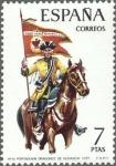 Sellos de Europa - España -  ESPAÑA 1974 2200 Sello Nuevo Uniformes Militares Portaguion de Dragones de Numancia 1737