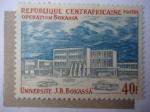 Stamps Central African Republic -  República centroafricana - Universidad Bokassa.