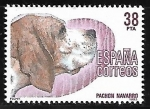Stamps : Europe : Spain :  Perros de raza española - Pachon Navarro