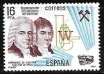 Stamps : Europe : Spain :  Bicentenario del descubrimiento de Wolframio