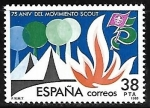 Stamps of the world : Spain :  75 aniversario del movimiento Scout