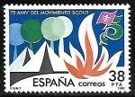 Stamps : Europe : Spain :  75 aniversario del movimiento Scout